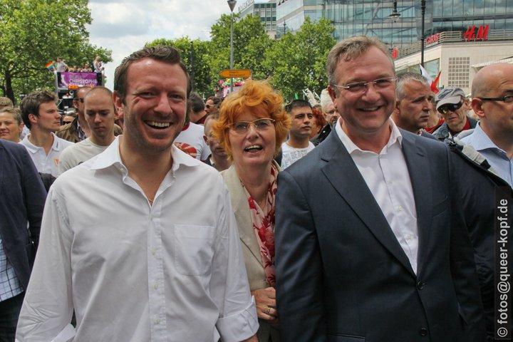 Jan-Marco Luczak, Monika Thamm und Frank Henkel